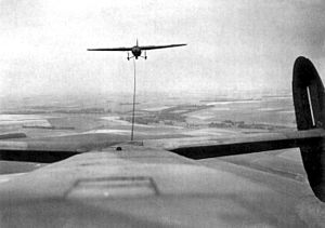 Northwest African Troop Carrier Command - Albemarle towing a Horsa glider.