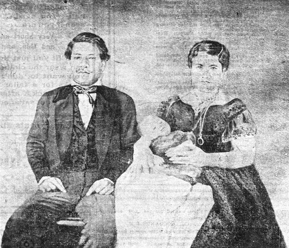 Albert Kunuiakea with Kamehameha III and Queen Kalama, about 1853. Published in The Pacific Commercial Advertiser, March 15, 1903