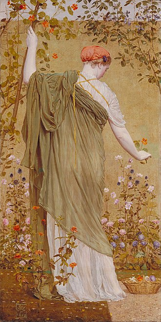 Albert Joseph Moore - A Garden