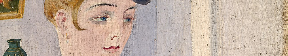 Aleksander Uurits. Portrait of a Lady. detail