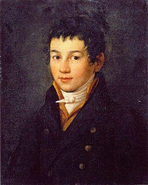 Alexei Yegorovich Yegorov - Self-portrait in adolescence  (late 1790s)