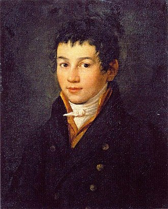 Alexei Yegorovich Yegorov - Self-portrait in adolescence  (late 1790s)