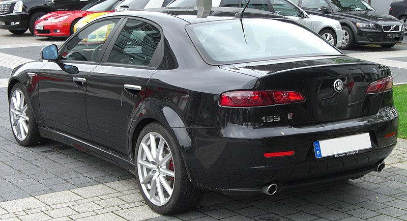 file:alfa romeo 159 ti rear - wikipedia