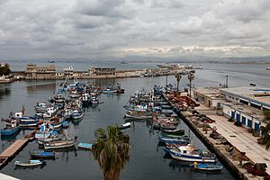 Casbah of Algiers - Image: Algiers fishing port