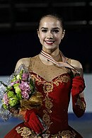 Alina Zagitova at the Junior World Championships 2017 - Awarding ceremony 02.jpg