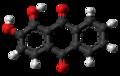 Alizarin molecule ball from xtal.png