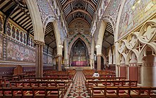 interior of ornate Victorian church