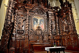 Alter Carved in Wood - Saint Peter's Church - Village of NAVES in France..jpg