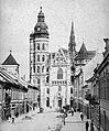 Alzbetina ulica (Deák Ferenc, egykor Forgács utca), szemben a Szent Erzsébet-főszékesegyház (Dóm). Fortepan 25862.jpg
