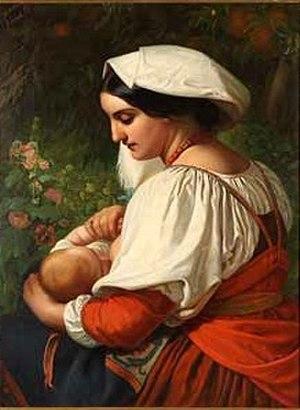 "Amalie Bensinger - Breastfeeding Roman Woman; also called ""Pomona"""