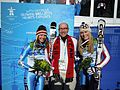 Ambassador Jacobson with US Women's alpine event gold medal winner Lindsey Vonn and silver medal winner Julia Mancuso.jpg