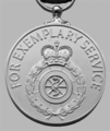 Ambulance Service (Emergency Duties) Long Service and Good Conduct Medal, reverse.png
