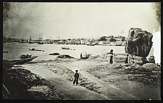 "Xiamen - ""Amoy"" Town and Harbor from ""Kalangsu"" in 1874."