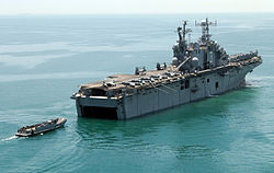 Amphibious assault ship USS Belleau Wood (July 7 2004).jpg