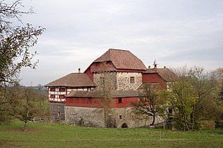 castle in Amriswil, Thurgau, Switzerland