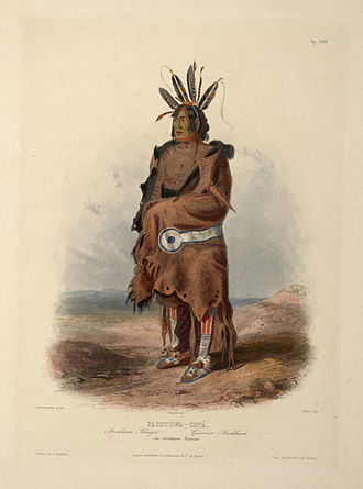 Jedediah Smith - Arikara warrior Bodmer (1840–1843)