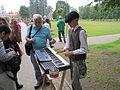 An organ player in Sigulda new castle.JPG