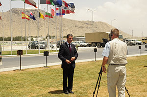 KABUL, Afghanistan- NATO's newly appointed Sec...