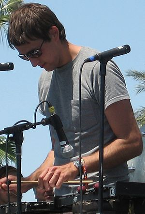 Andrew Dost - Dost performing with Anathallo at Coachella in 2007.