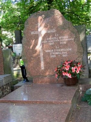 Nagrobek Andrzeja Miłosza na Cmentarzu Powązkowskim, Warszawa, 17 lipca 2006 r.