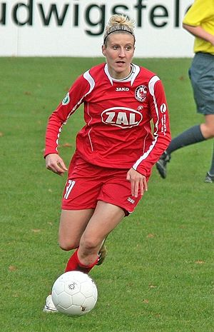 Anja Mittag - Mittag playing for Potsdam in 2008.