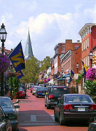 Annapolis, Maryland - Downtown Annapolis's Main Street in September 2004