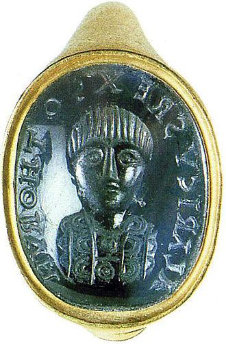 Alaric II - A ring depicting Alaric II. Kunsthistorisches Museum, Vienna