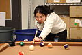 Annie Lin playing pool 2, 2011-01-03.jpg
