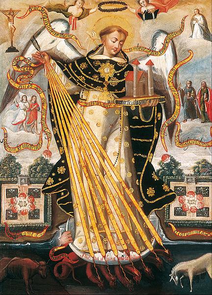 File:Anonymous Cusco School - Saint Thomas Aquinas, Protector of the University of Cusco - Google Art Project.jpg