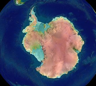 Geography of Antarctica - Image: Antarctica surface