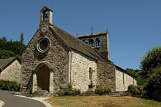 Antignac, Cantal - Image: Antignac eglise Saint Victor