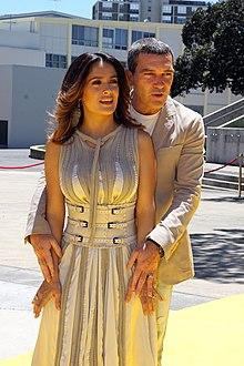 Salma Hayek nel 2011 insieme ad Antonio Banderas, con il quale ha collaborato in numerose pellicole