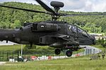 Apache Attack Helicopter from 4 Regiment Air Air Corps Taking of for mission tasking over Hohenfels Training Area MOD 45160150.jpg