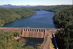 National Register of Historic Places listings in Cherokee County, North Carolina - Image: Apalachia Dam
