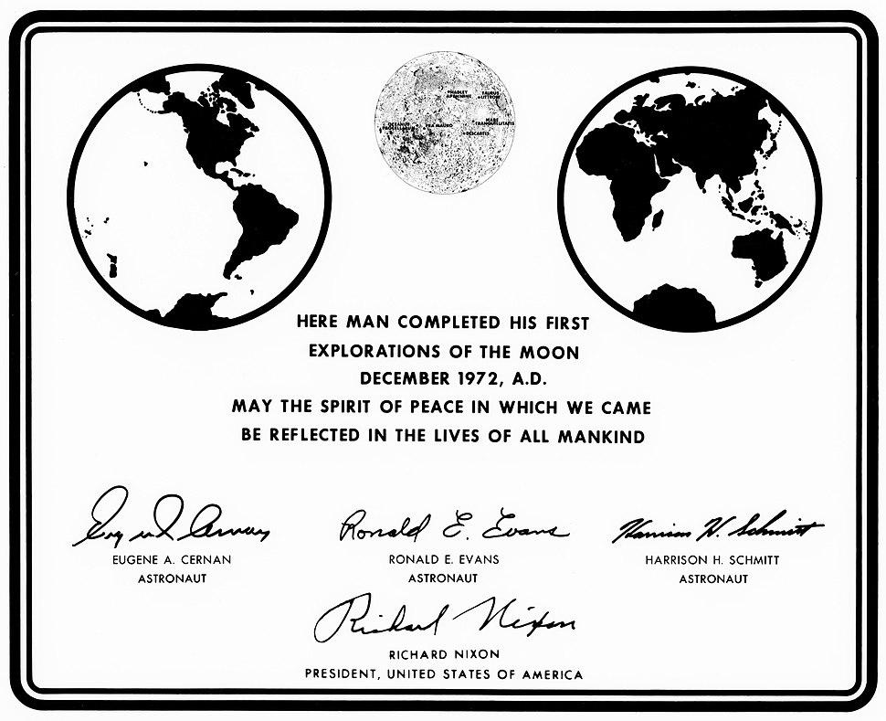 Apollo17 plaque