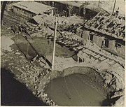 Allied ordnance damage at the Apollo company industrial plant in Bratislava, September 1944