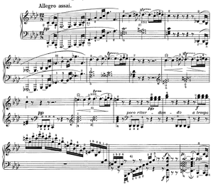 Piano Sonata No. 23 (Beethoven) - The beginning of the first movement