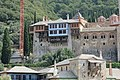 Approching the Dochiariou monastery - close up of top level.jpg