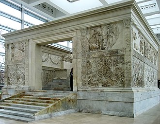 "Ara Pacis - Ara Pacis Augustae, the ""Altar of Augustan Peace"", as reassembled."