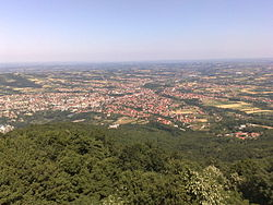 The city view from Bukulja mountain