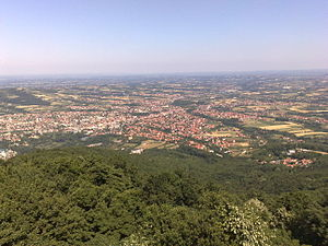 Aranđelovac - The city view from Bukulja mountain