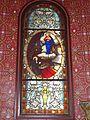 Arbonne (Pyr-Atl., Fr) stained glass window Vision of the Sacred Heart.JPG