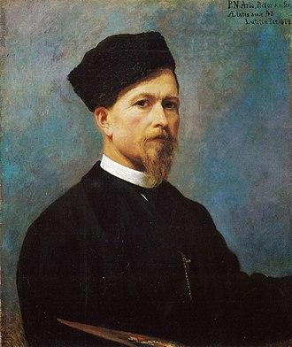 Peter Nicolai Arbo -  Peter Nicolai Arbo Self Portrait  (1874)