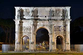 Culture of Italy - the Arch of Constantine in Rome.
