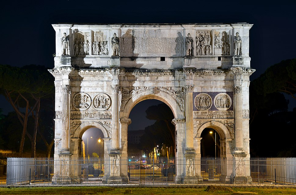 Arch of Constantine at Night (Rome)