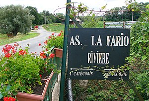 "Ardre (river) - The bridge at Faverolles is the limit between the first and second class fisheries. (""La fario"" is the brown trout – Salmo trutta fario.)"