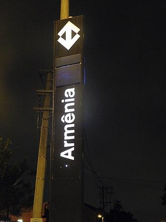 Armenia–Brazil relations - Armênia (São Paulo Metro) station