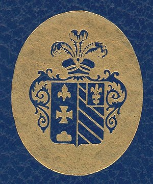 English: Coat of Arms of the Baron Hottinguer ...