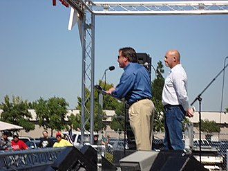 Armstrong & Getty - Hosts Joe Getty and Jack Armstrong, speaking at the 2010 Tax Day Tea Party Rally