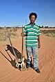 Arri Raats, Kalahari Khomani San Bushman, Boesmansrus camp, Northern Cape, South Africa (20353462048).jpg